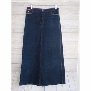 Betsey Johnson Jeans Denim Maxi Skirt